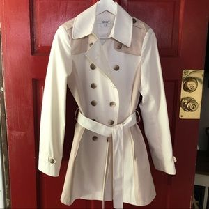 DKNY Belted Trench
